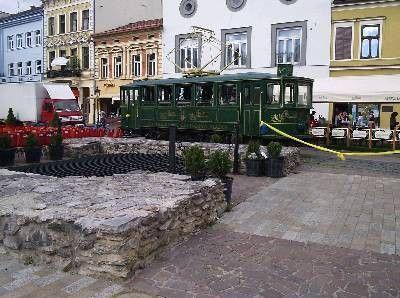 Električka na Košickom námestí