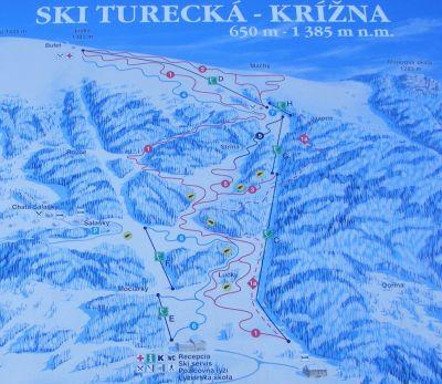 Lyžiarske stredisko Ski Turecká - Krížna
